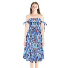 Ml 22 Shoulder Tie Bardot Midi Dress