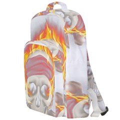 Fire Red Skull Double Compartment Backpack