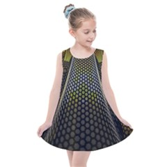 Fractal Hexagon Geometry Hexagonal Kids  Summer Dress
