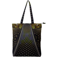 Fractal Hexagon Geometry Hexagonal Double Zip Up Tote Bag by Mariart
