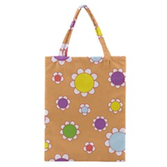 Floral Flowers Retro Classic Tote Bag