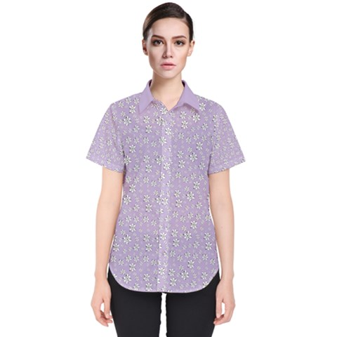 Atomic Effect  Women s Short Sleeve Shirt by TimelessFashion