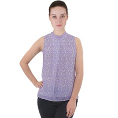 Atomic Effect  Mock Neck Chiffon Sleeveless Top by TimelessFashion