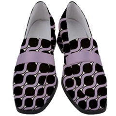 Between Circles Women s Chunky Heel Loafers by TimelessFashion