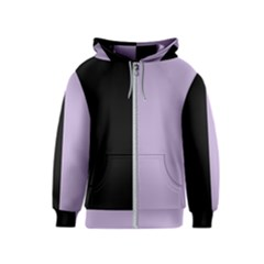 Black - Crocus Petal  Kids  Zipper Hoodie by TimelessFashion