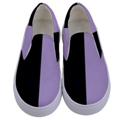 Black   Crocus Petal  Kids  Canvas Slip Ons
