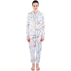 Geometric Pattern Abstract Shape Hooded Jumpsuit (ladies)