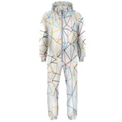 Geometric Pattern Abstract Shape Hooded Jumpsuit (men)