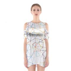 Geometric Pattern Abstract Shape Shoulder Cutout One Piece Dress