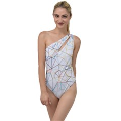Geometric Pattern Abstract Shape To One Side Swimsuit by Mariart