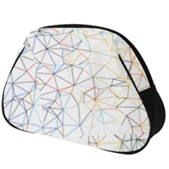 Geometric Pattern Abstract Shape Full Print Accessory Pouch (big)