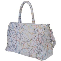 Geometric Pattern Abstract Shape Duffel Travel Bag by Mariart