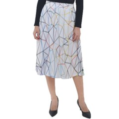 Geometric Pattern Abstract Shape Classic Velour Midi Skirt  by Mariart