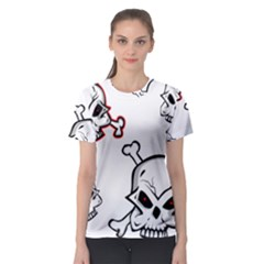 Illustration Vector Skull Women s Sport Mesh Tee by Mariart