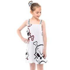 Illustration Vector Skull Kids  Overall Dress by Mariart