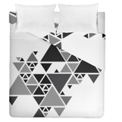 Gray Triangle Puzzle Duvet Cover Double Side (queen Size) by Mariart