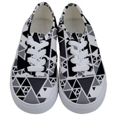 Gray Triangle Puzzle Kids  Classic Low Top Sneakers