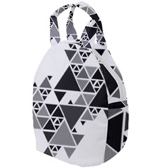Gray Triangle Puzzle Travel Backpacks