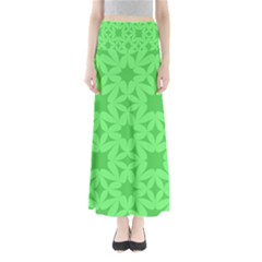 Green Magenta Wallpaper Seamless Pattern Full Length Maxi Skirt by Mariart