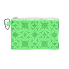 Green Magenta Wallpaper Seamless Pattern Canvas Cosmetic Bag (medium)