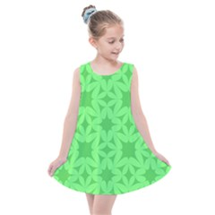 Green Magenta Wallpaper Seamless Pattern Kids  Summer Dress by Mariart