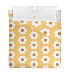 Hexagon Honeycomb Duvet Cover Double Side (full/ Double Size) by Mariart