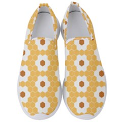 Hexagon Honeycomb Men s Slip On Sneakers by Mariart
