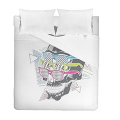Illustration Skull Rainbow Duvet Cover Double Side (full/ Double Size) by Mariart
