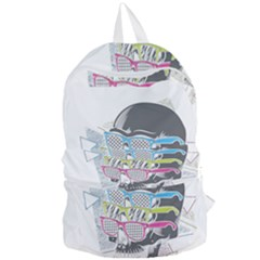Illustration Skull Rainbow Foldable Lightweight Backpack