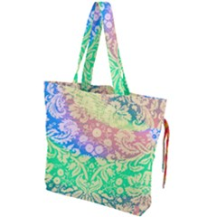 Hippie Fabric Background Tie Dye Drawstring Tote Bag