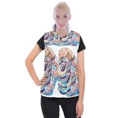 Goat Sheep Ethnic Women s Button Up Vest by Mariart