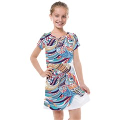 Goat Sheep Ethnic Kids  Cross Web Dress by Mariart
