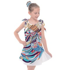 Goat Sheep Ethnic Kids  Tie Up Tunic Dress by Mariart