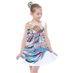 Goat Sheep Ethnic Kids  Summer Dress by Mariart