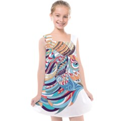 Goat Sheep Ethnic Kids  Cross Back Dress by Mariart