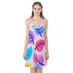 Leaves Background Beautiful Camis Nightgown