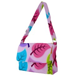 Leaves Background Beautiful Full Print Messenger Bag