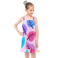 Leaves Background Beautiful Kids  Overall Dress by Mariart