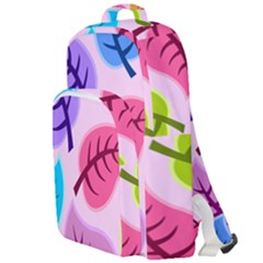 Leaves Background Beautiful Double Compartment Backpack