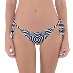 Line Stripe Pattern Reversible Bikini Bottom by Mariart