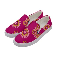 Morroco Tile Traditional Women s Canvas Slip Ons by Mariart