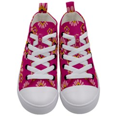 Morroco Tile Traditional Kids  Mid Top Canvas Sneakers