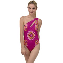 Morroco Tile Traditional To One Side Swimsuit by Mariart