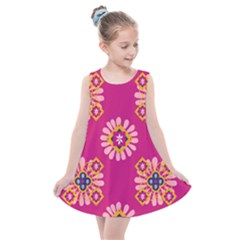 Morroco Tile Traditional Kids  Summer Dress by Mariart