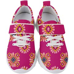 Morroco Tile Traditional Kids  Velcro Strap Shoes