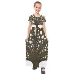 Leaf Tree Kids  Short Sleeve Maxi Dress by Mariart