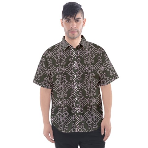 Line Geometry Men s Short Sleeve Shirt by Mariart