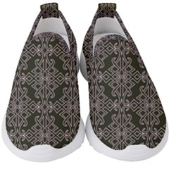Line Geometry Kids  Slip On Sneakers by Mariart