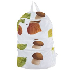 Leaves Mushrooms Foldable Lightweight Backpack by Mariart