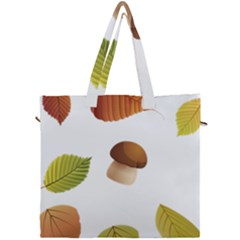 Leaves Mushrooms Canvas Travel Bag